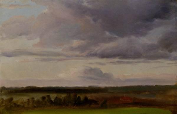 Gille Christian Friedrich Landscape With Clouds Near Moritzburg